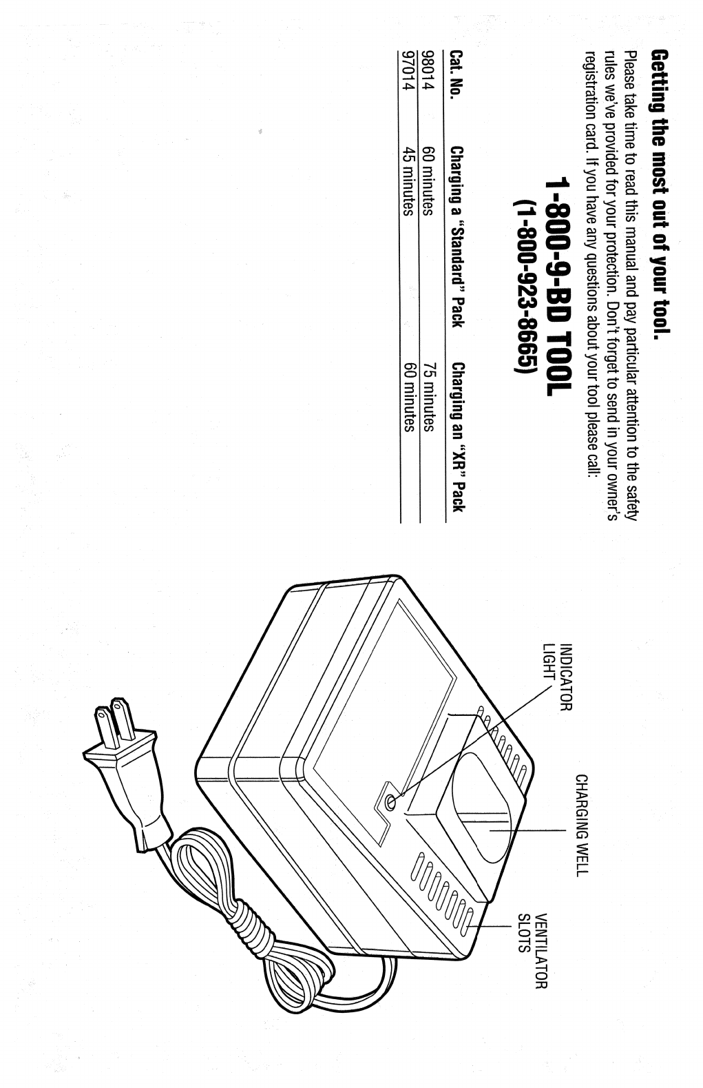 Page 2 of Black & Decker Battery Charger 97014 User Guide