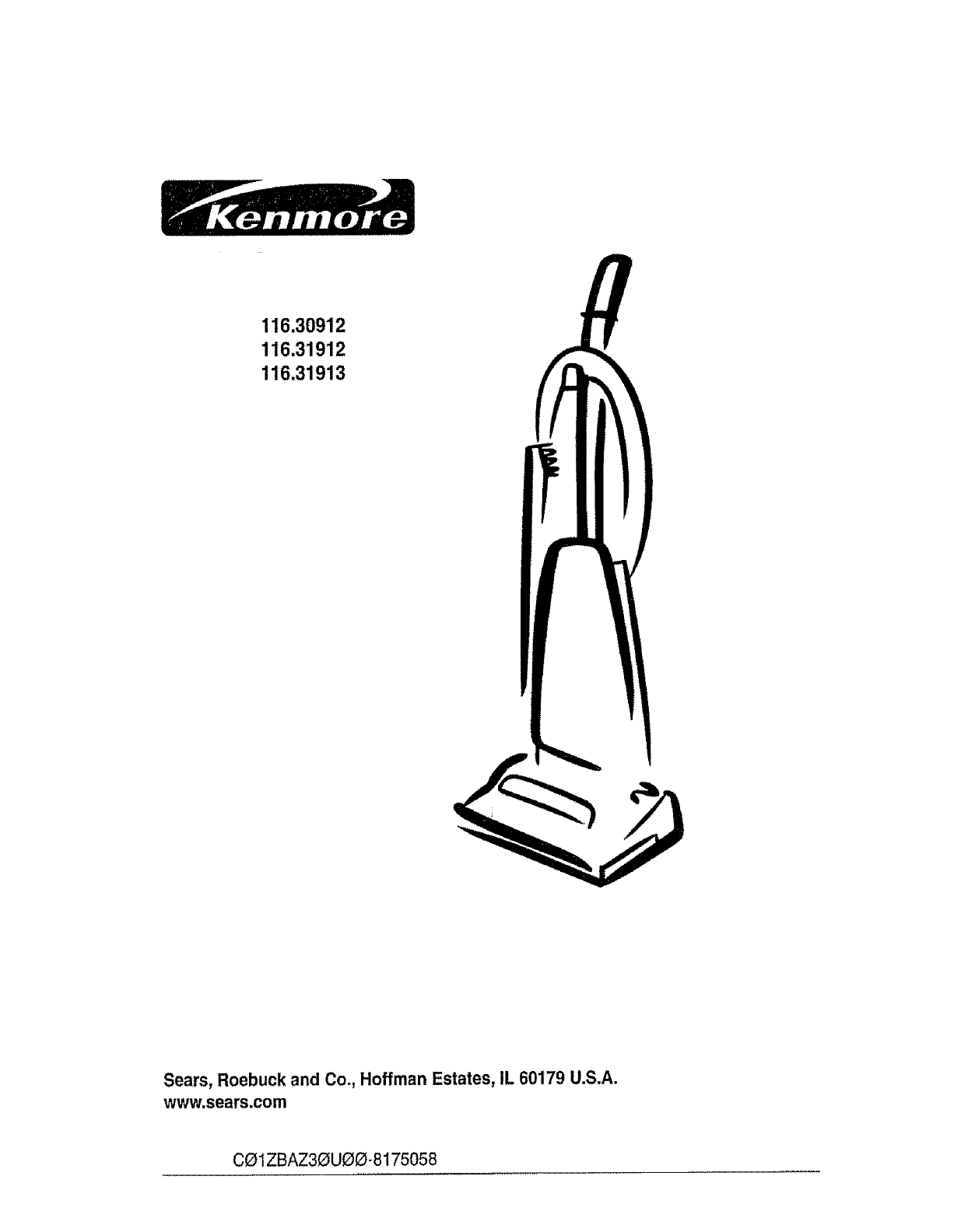 Kenmore Vacuum Cleaner 116.30912 User Guide