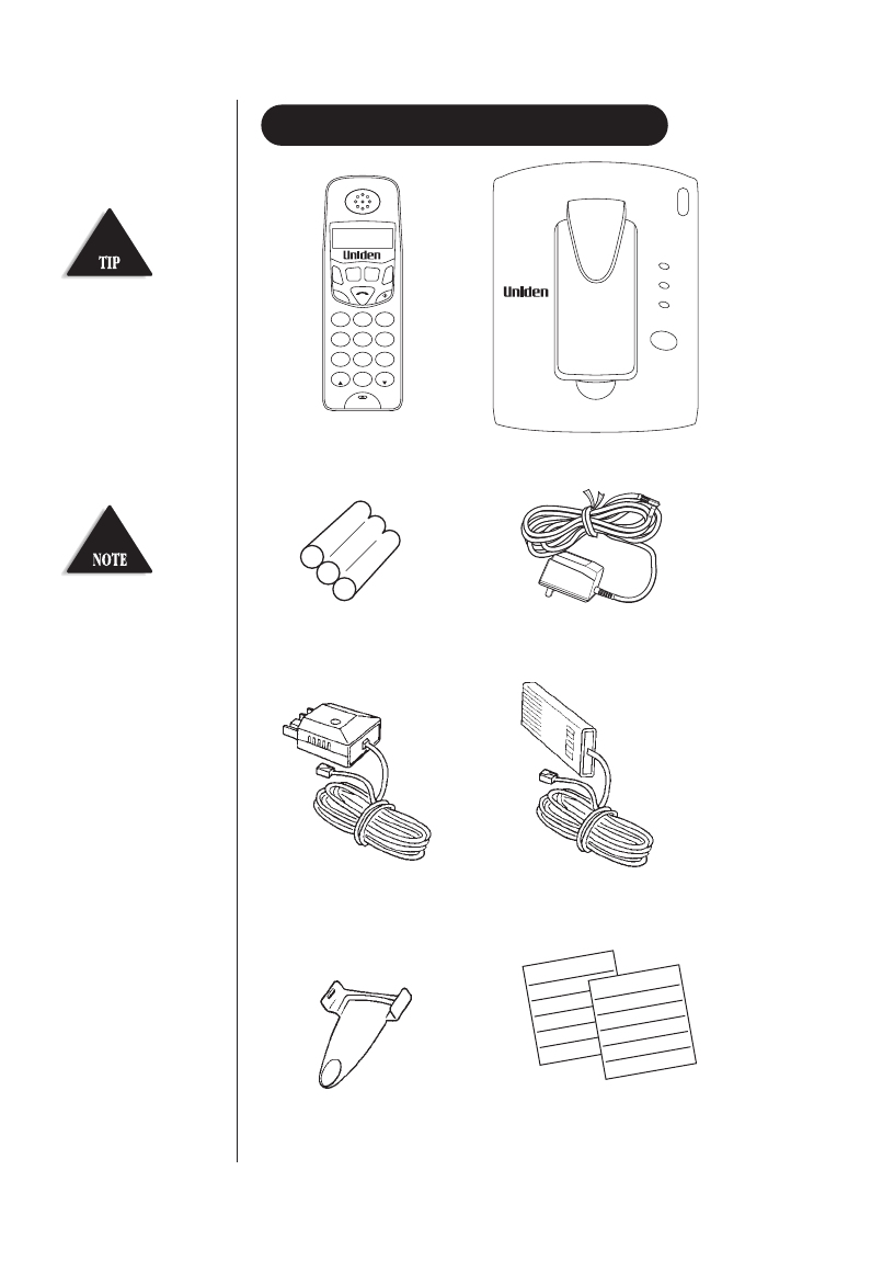 Page 7 of Uniden Telephone DECT 1811 User Guide