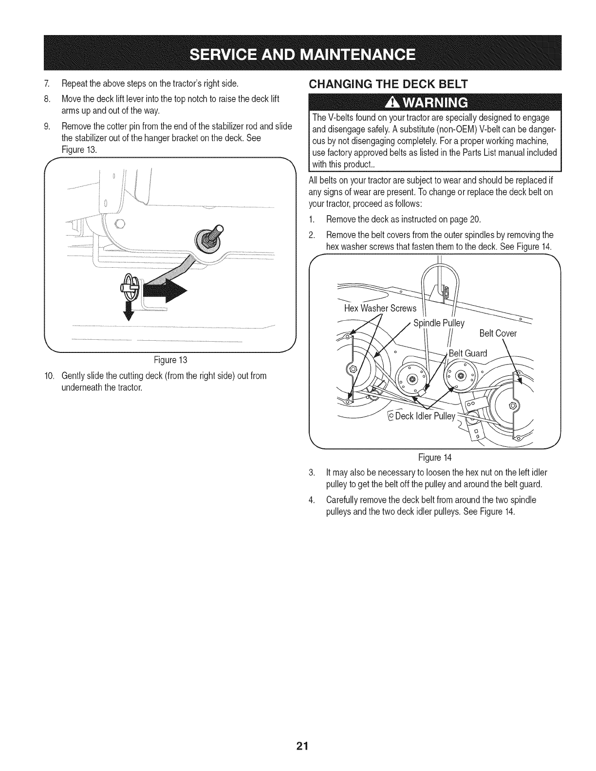 Page 21 of Craftsman Lawn Mower 247.28980 User Guide