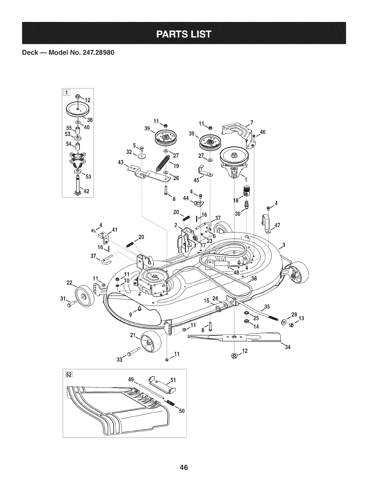 Page 46 of Craftsman Lawn Mower 247.28980 User Guide