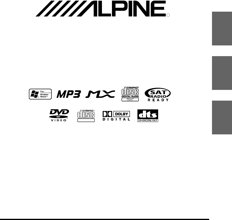 Alpine Car Video System IVA-D310 User Guide