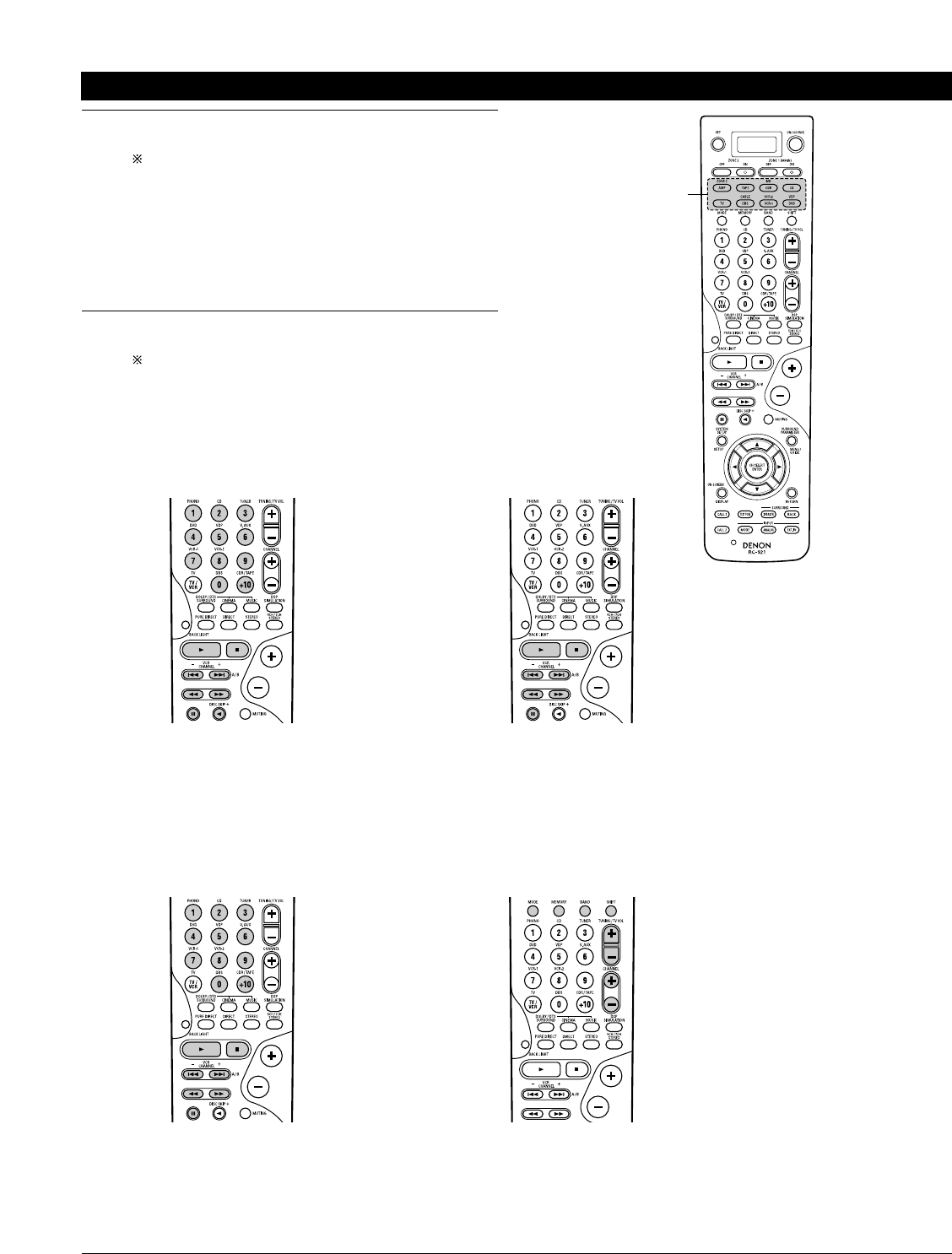 Page 35 of Denon Stereo System AVR-3803 User Guide