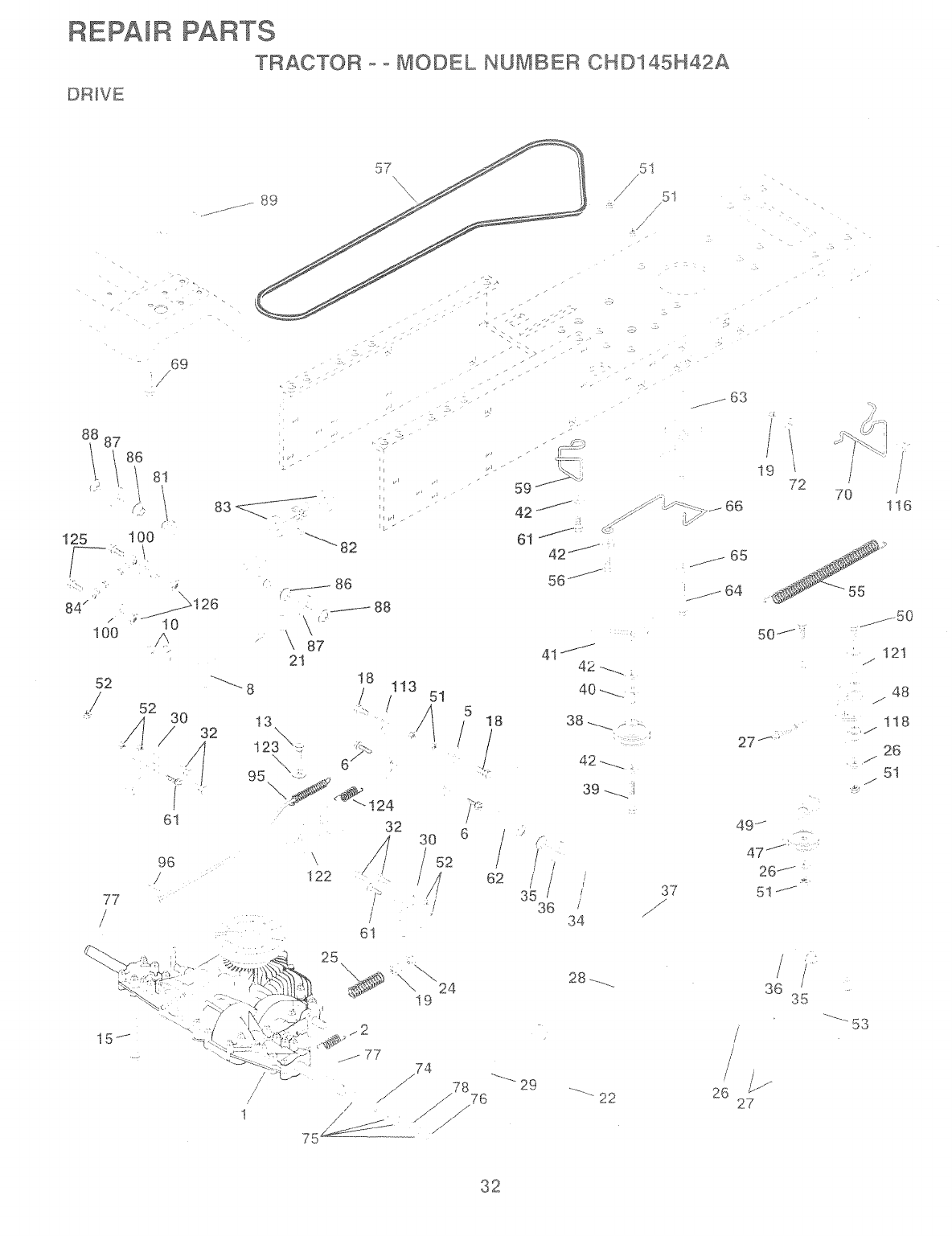 Page 32 of Poulan Lawn Mower 157257 User Guide