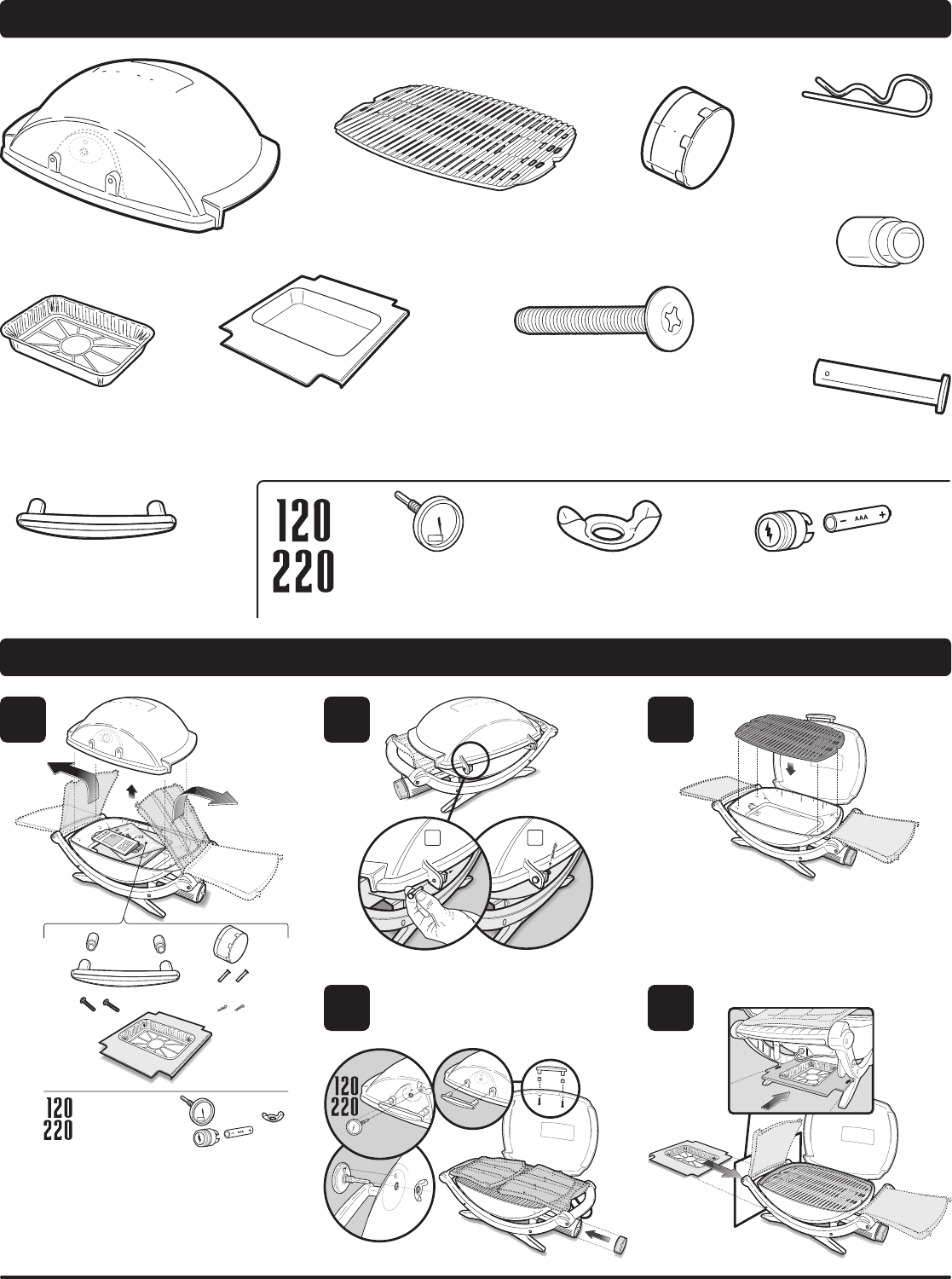 Page 8 of Weber Charcoal Grill 220 User Guide