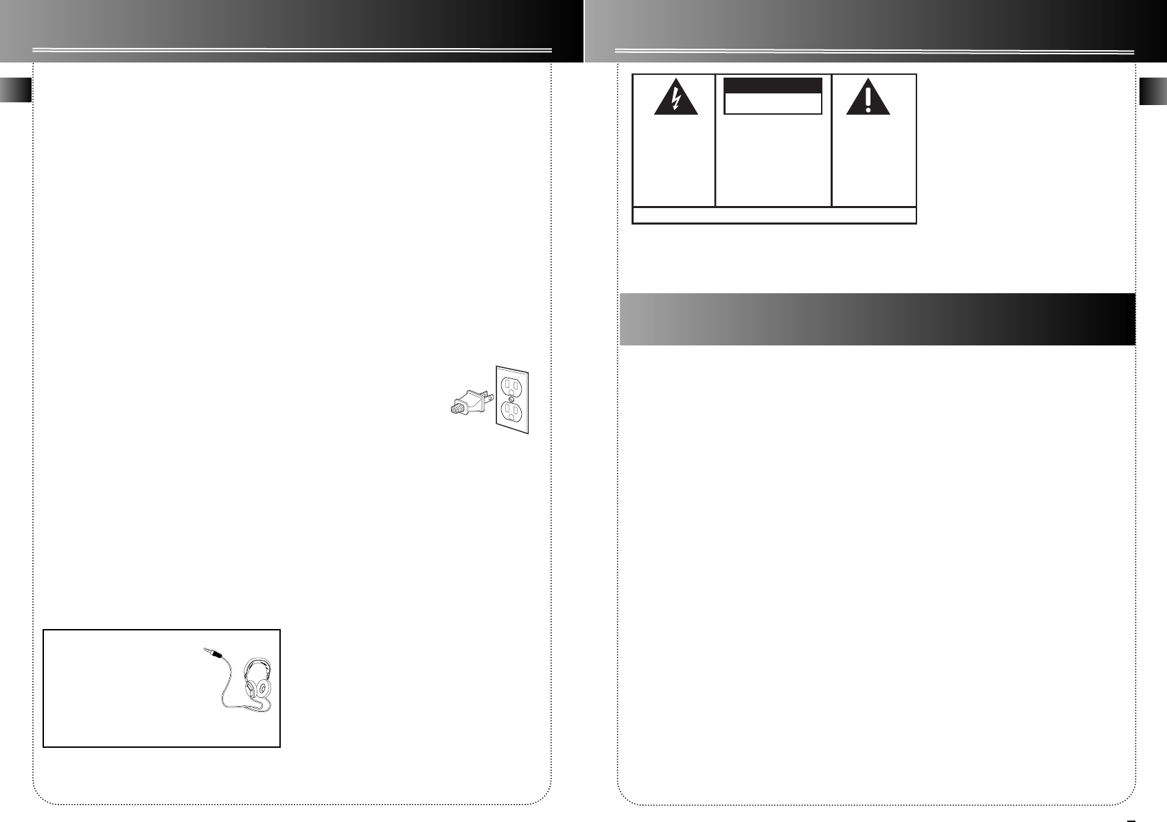 Page 2 of RCA Cassette Player 004-000-00345-4 User Guide
