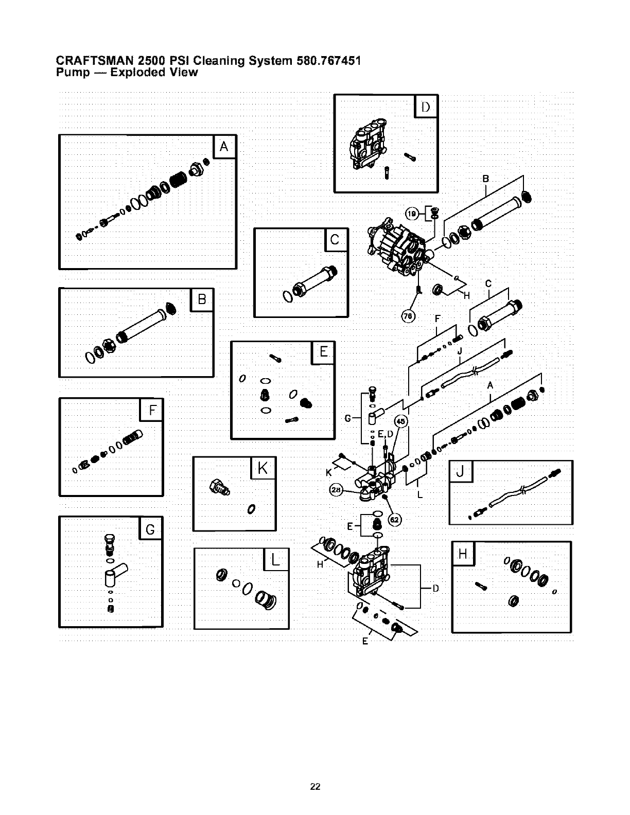 Page 22 of Craftsman Pressure Washer 580.767451 User Guide