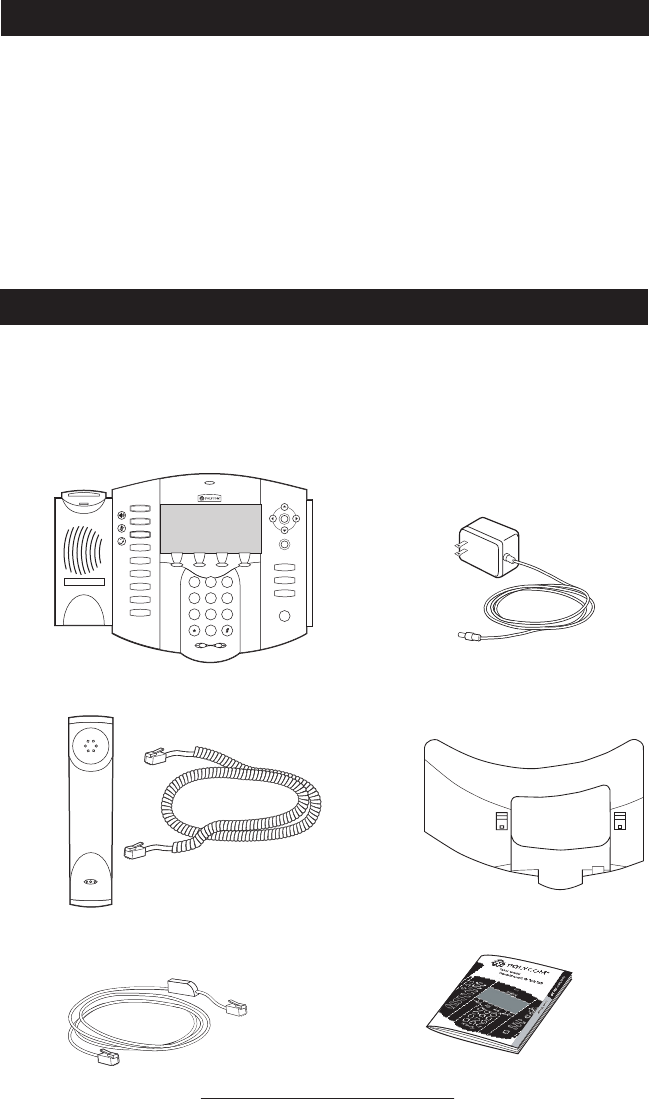 Page 4 of Polycom Telephone 501SIP User Guide