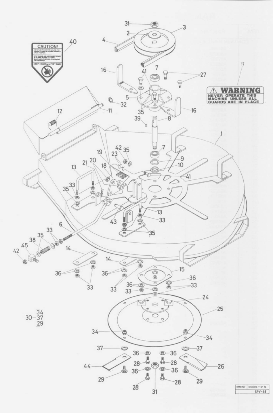 Page 34 of Rover Lawn Mower 1766 User Guide