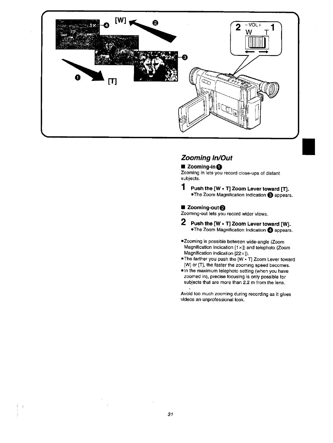 Page 31 of Panasonic Camcorder NV VX 27 User Guide