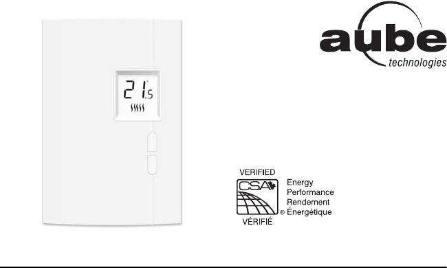 Aube Technologies Thermostat TH401 User Guide