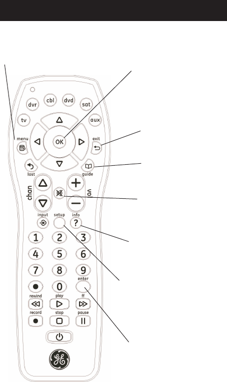 Page 5 of GE Universal Remote 24922 User Guide