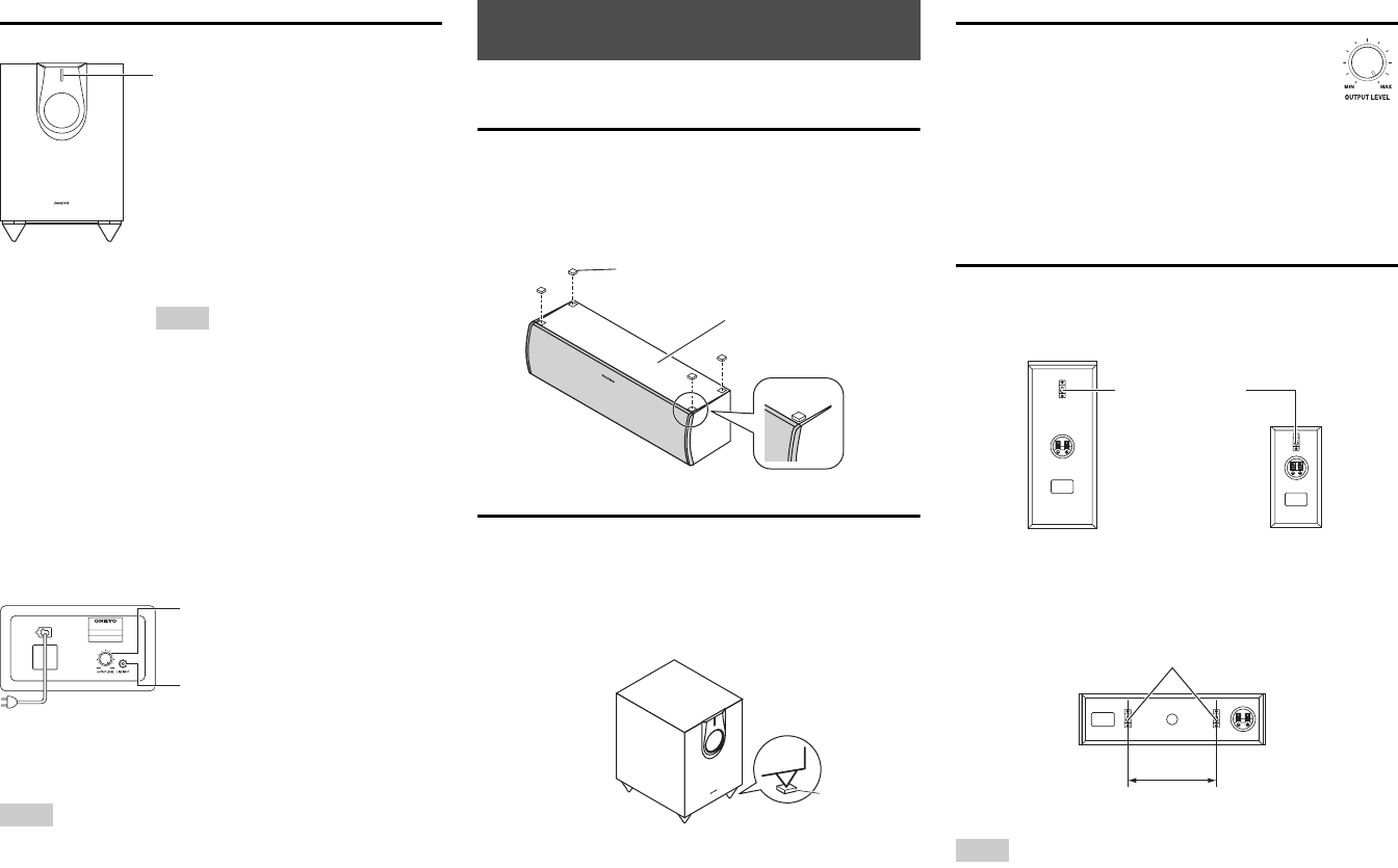 Page 2 of Onkyo Speaker System HTP-593 User Guide