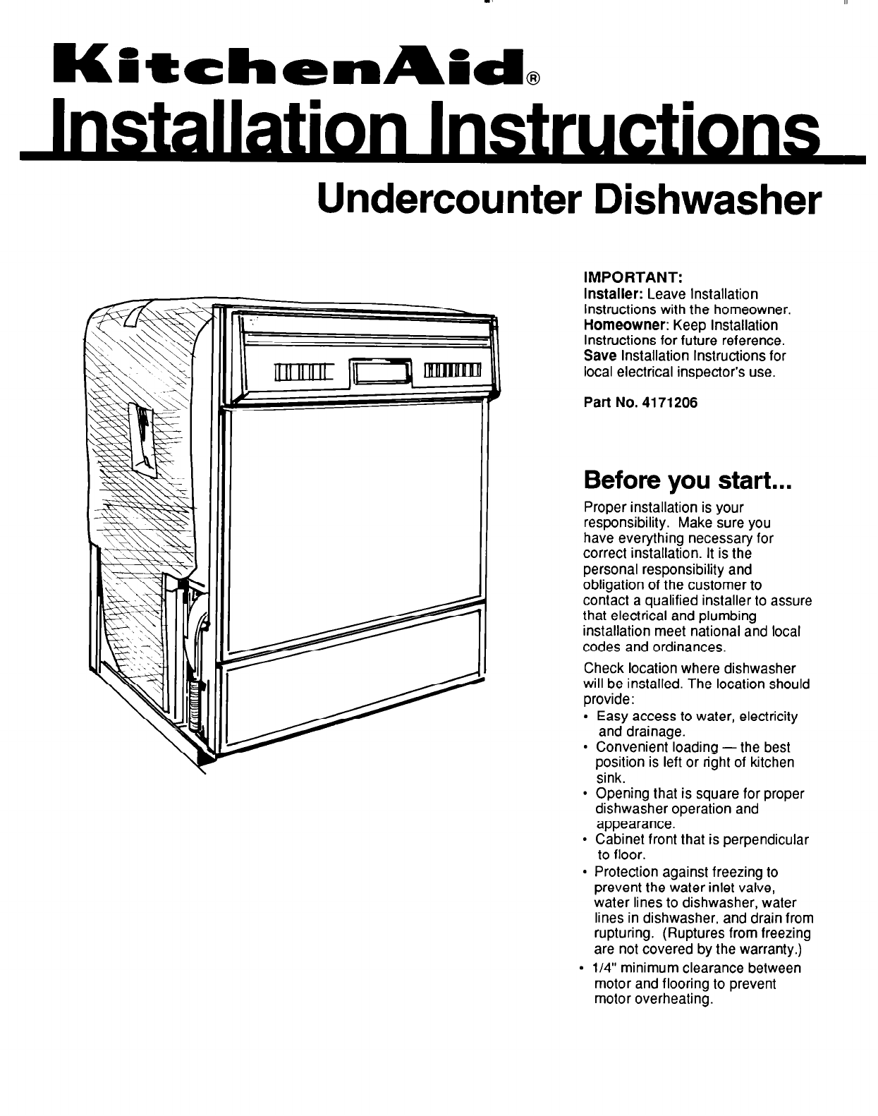 Kitchenaid Dishwasher User Guide