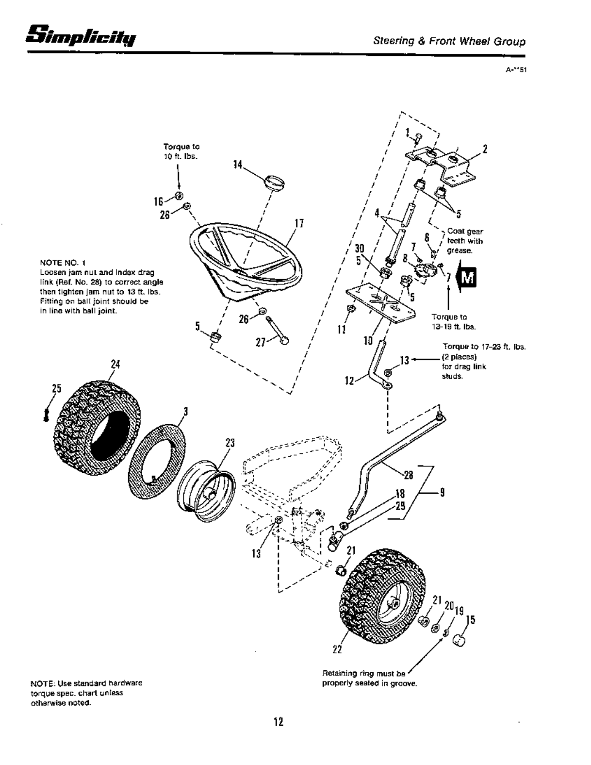 Page 14 of Simplicity Lawn Mower 4200 Series User Guide
