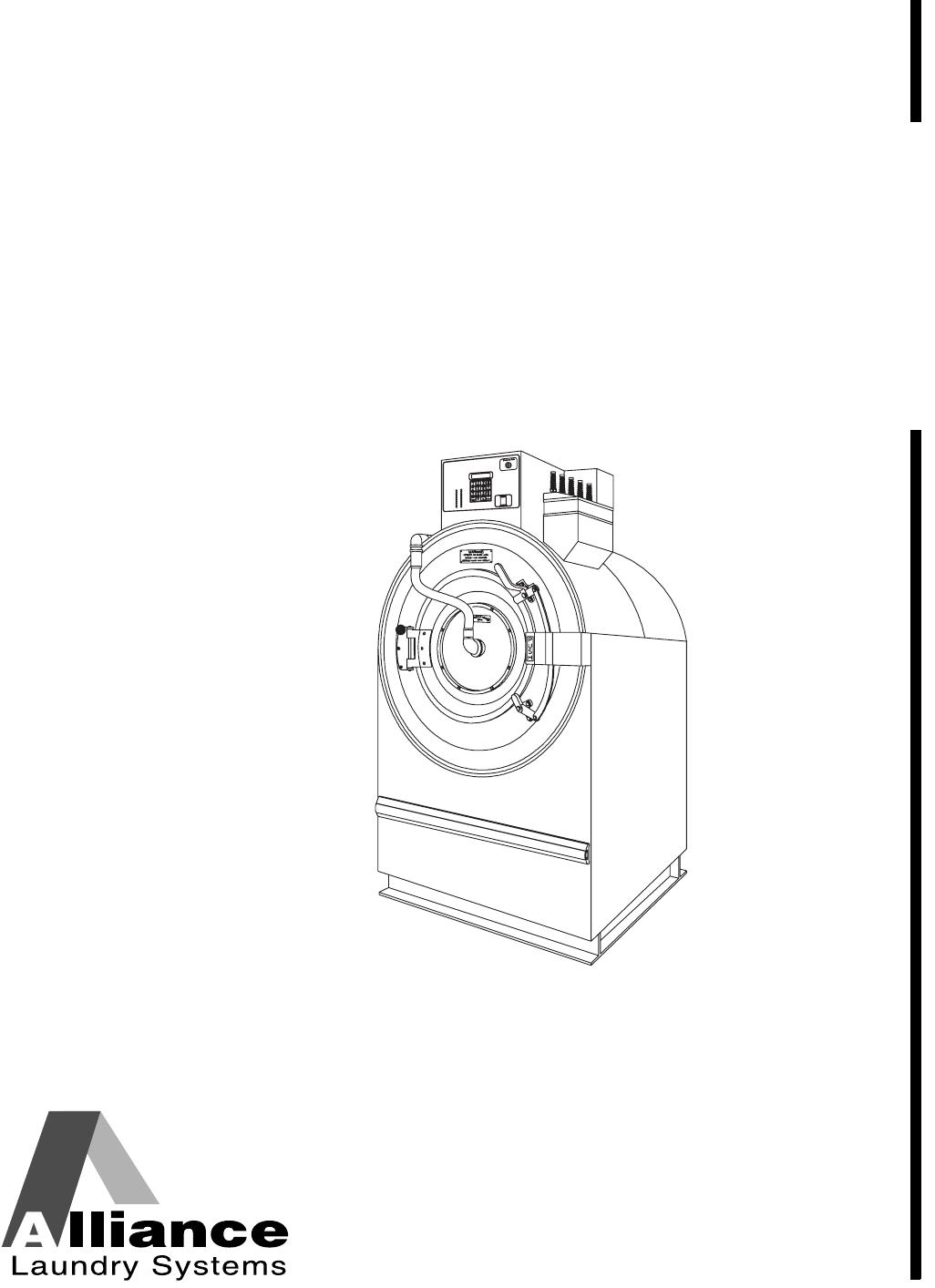 Alliance Laundry Systems Fan UW35B2 User Guide