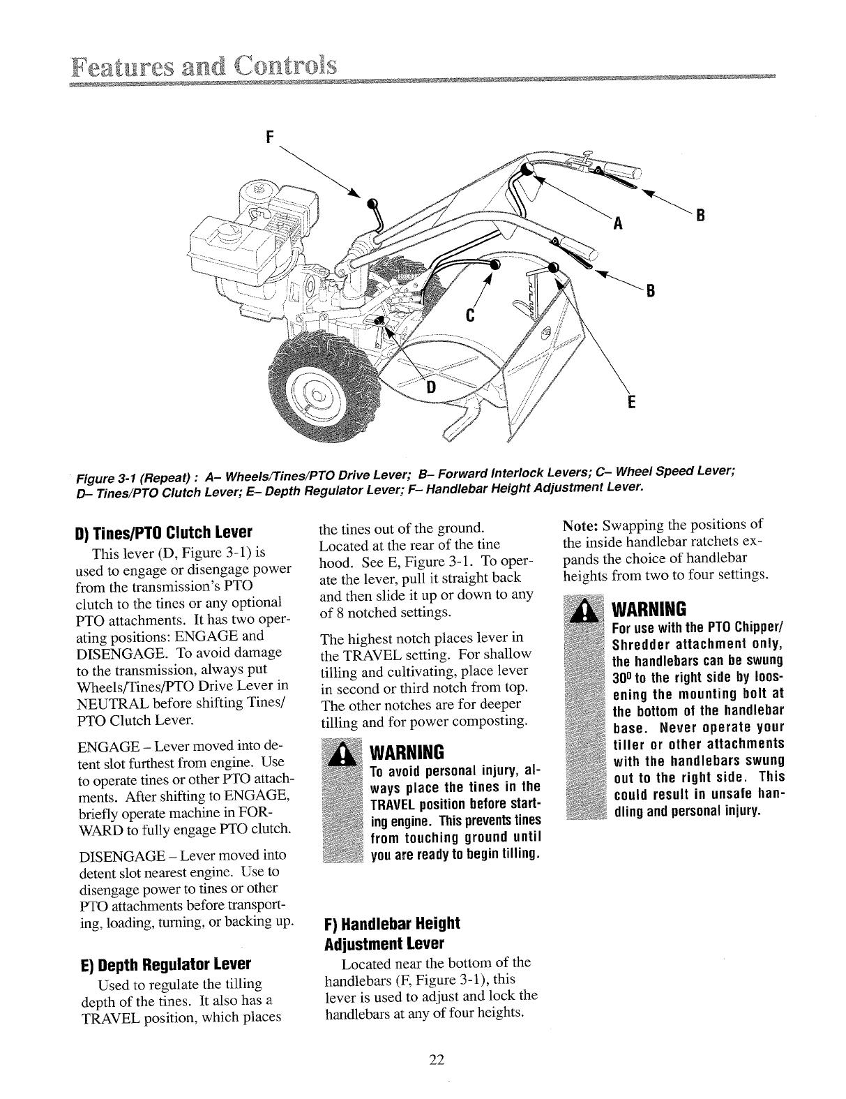 Page 22 of Troy-Bilt Tiller 12071-8HP User Guide
