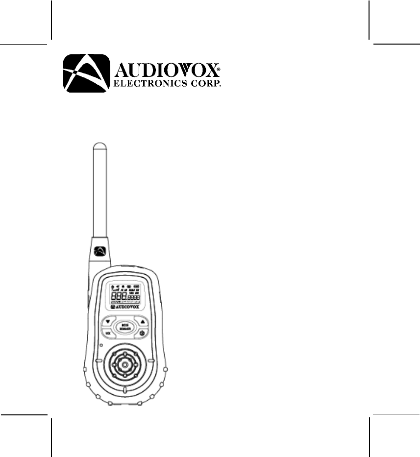 Audiovox Two-Way Radio GMRS7015RC User Guide