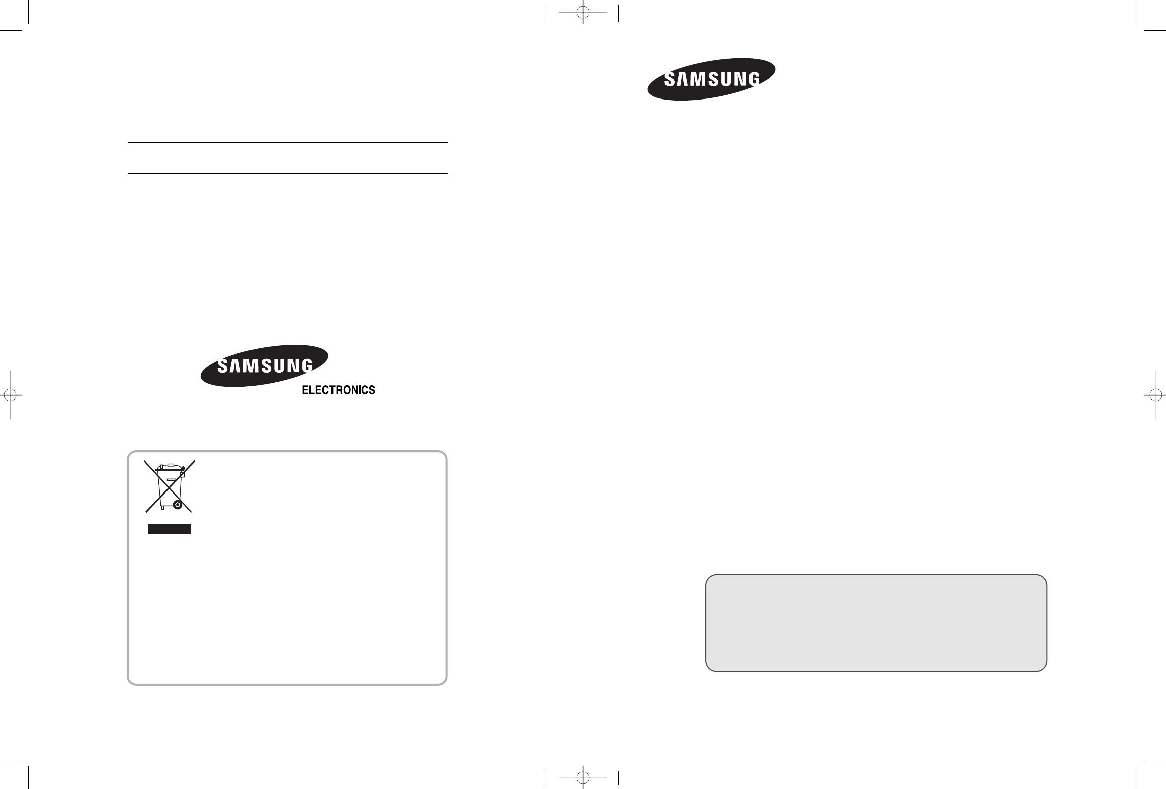 Samsung Flat Panel Television LE32M5 User Guide