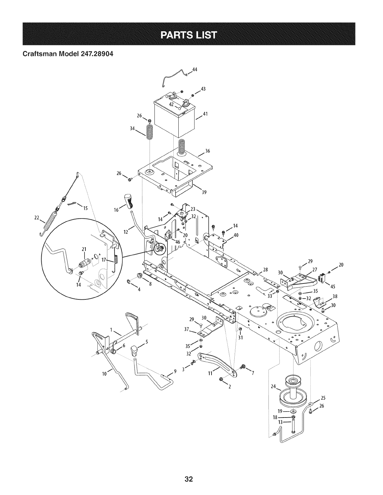 Page 32 of Craftsman Lawn Mower 247.28904 User Guide