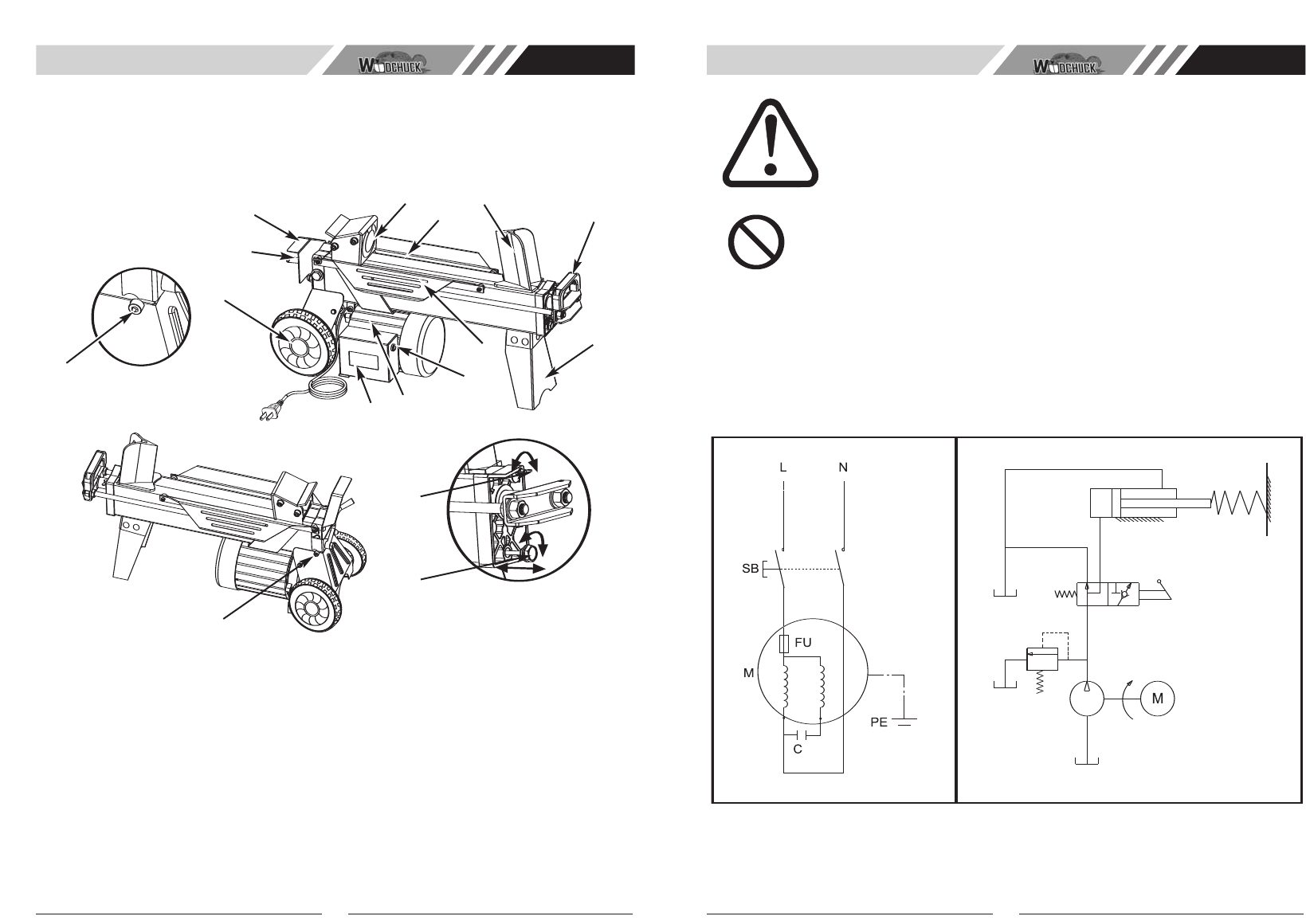 Page 4 of McCulloch Log Splitter FB4052 User Guide