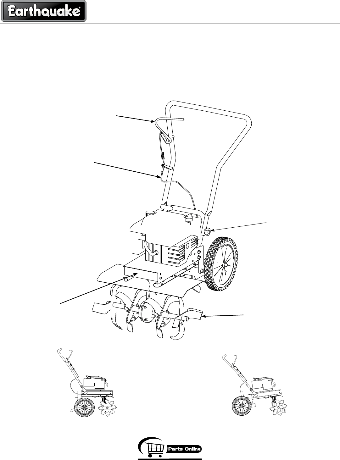 Page 8 of EarthQuake Tiller R3355H User Guide