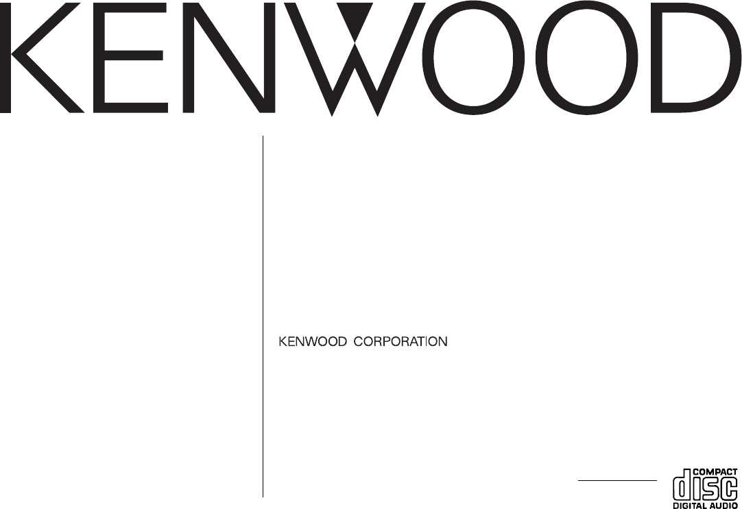 Kenwood Car Stereo System KDC-2019 User Guide