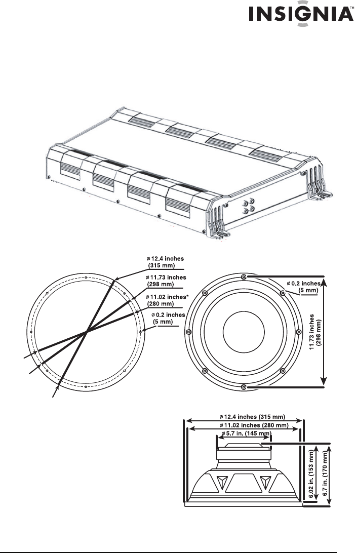 Page 3 of Insignia Speaker NS-P2000 User Guide