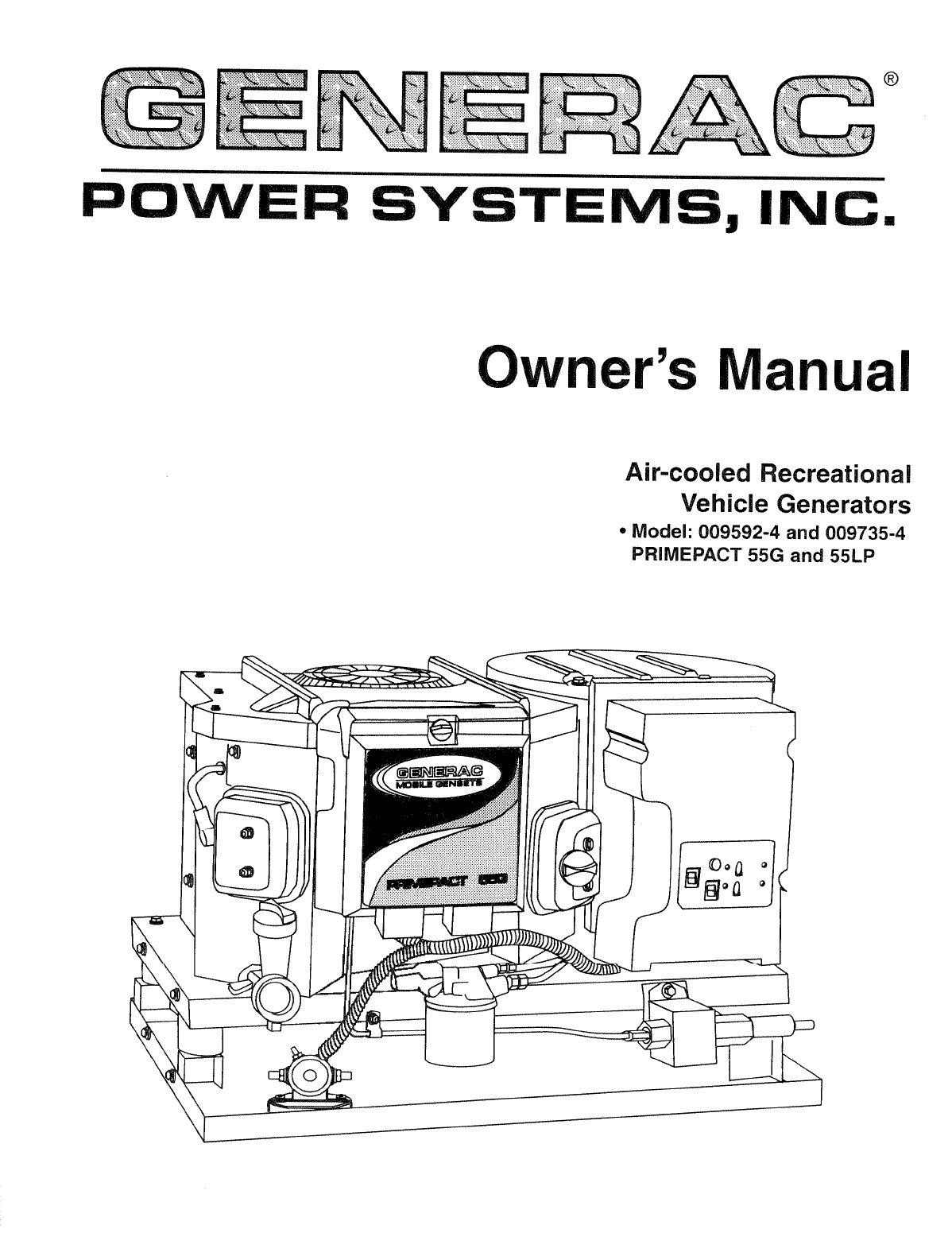 Generac Power Systems Portable Generator Q-Series User