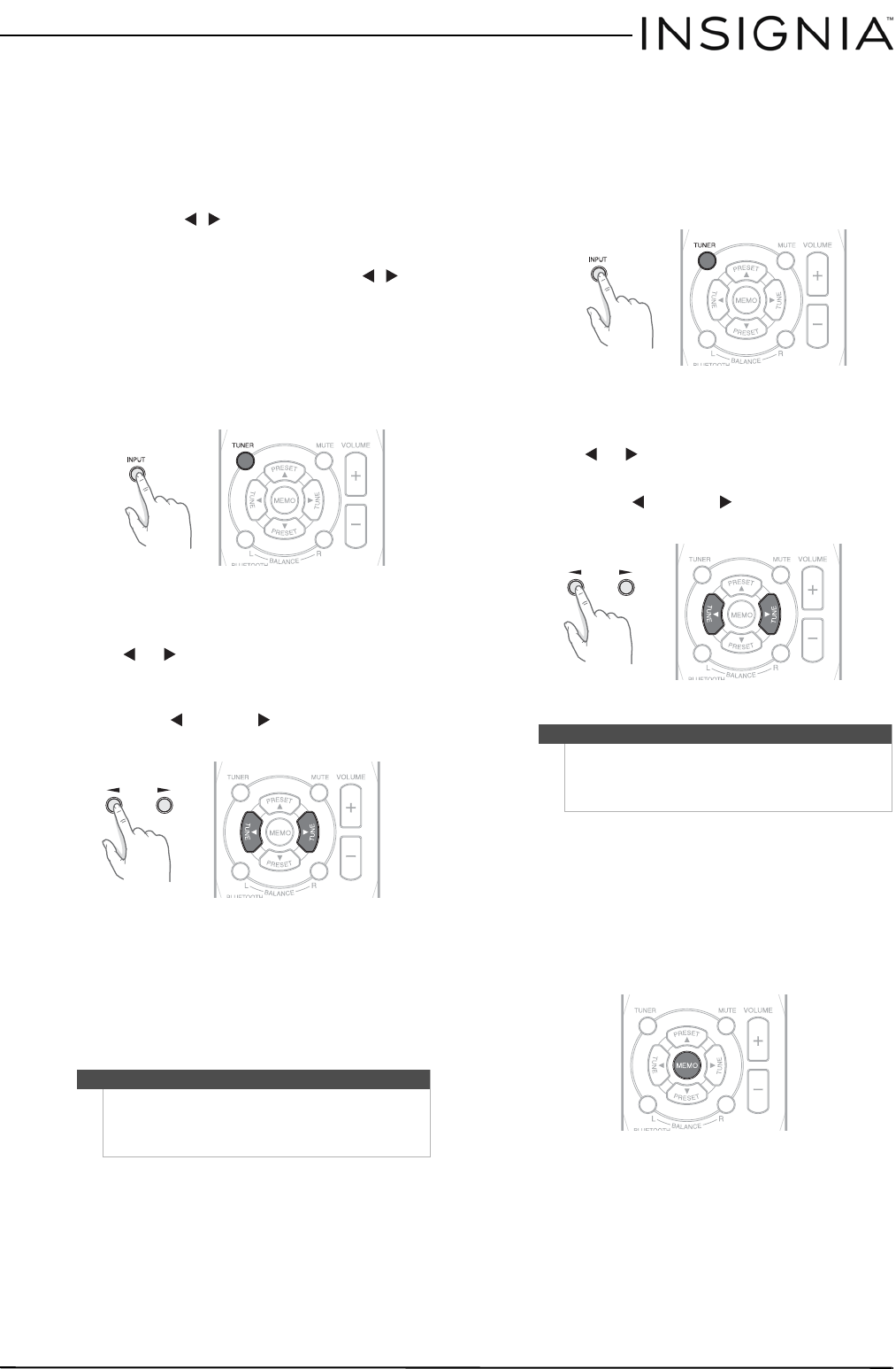 Page 13 of Insignia Stereo Receiver NS-STR514 User Guide