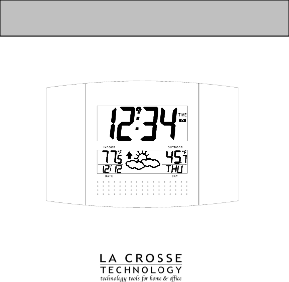 La Crosse Technology Clock WS8157U User Guide