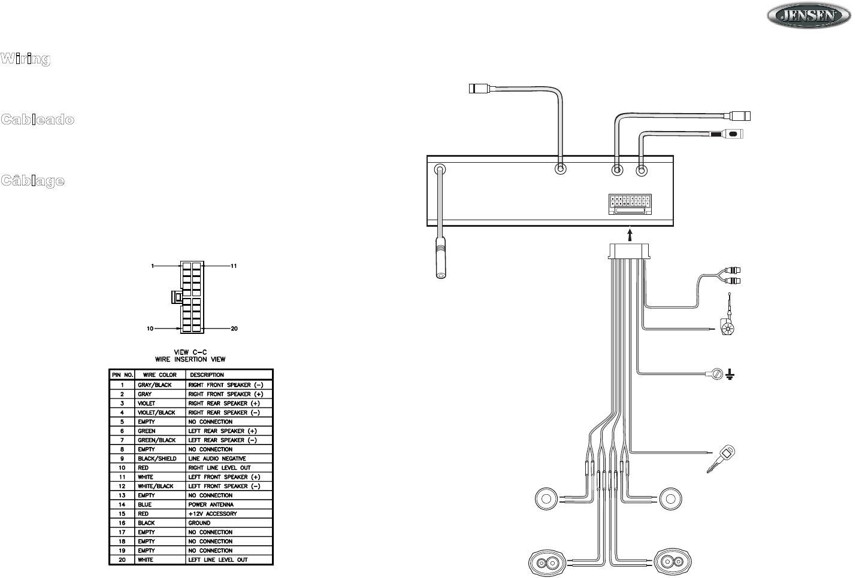 Jensen Radio Wiring Diagram : 27 Wiring Diagram Images