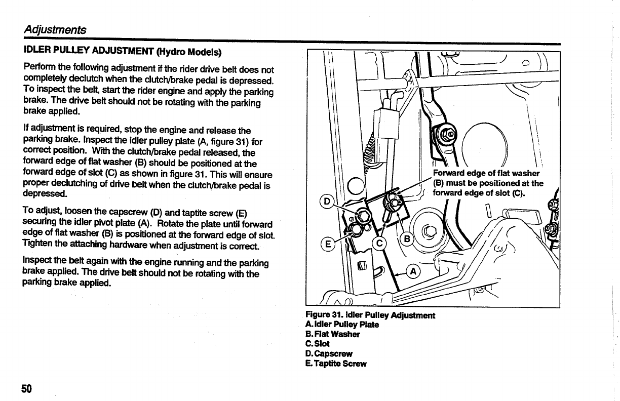 Page 52 of Simplicity Lawn Mower Coronet Series User Guide