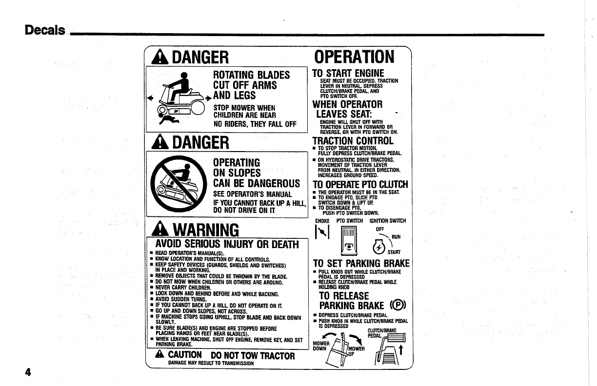 Page 6 of Simplicity Lawn Mower Coronet Series User Guide