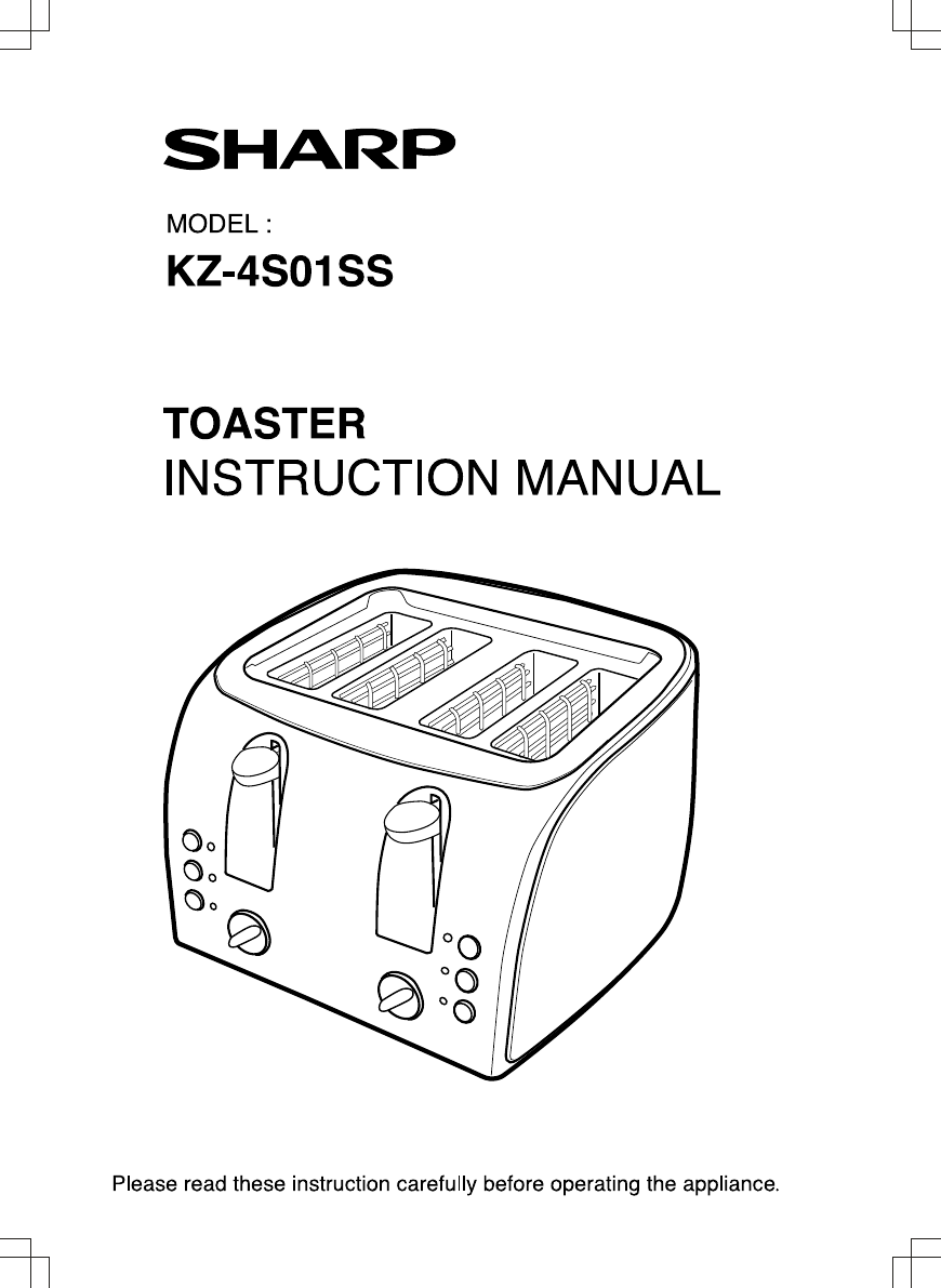 Toaster Instruction Manual