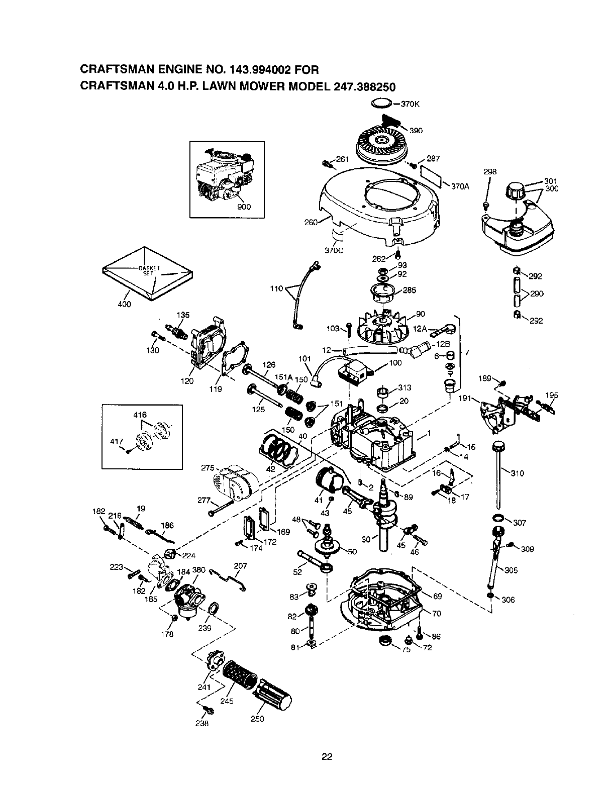 Page 22 of Craftsman Lawn Mower 247.388250 User Guide