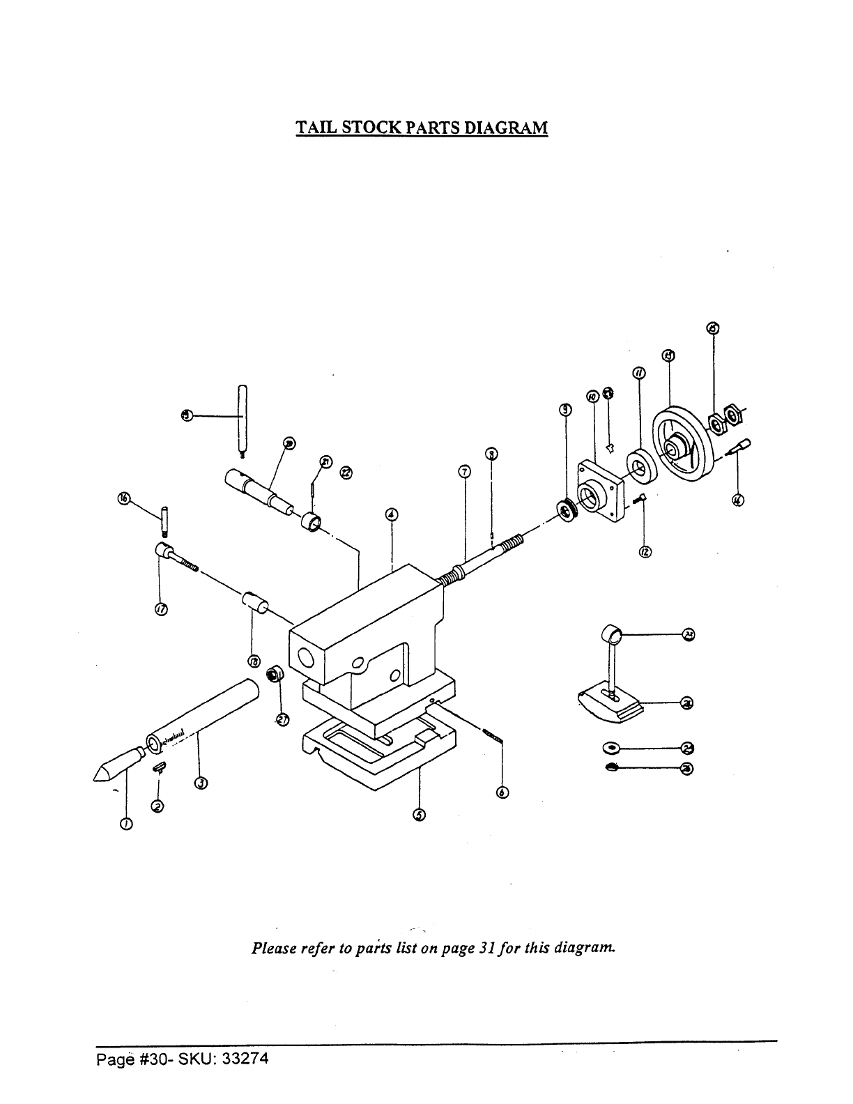 Page 30 of Harbor Freight Tools Lathe 33274 User Guide