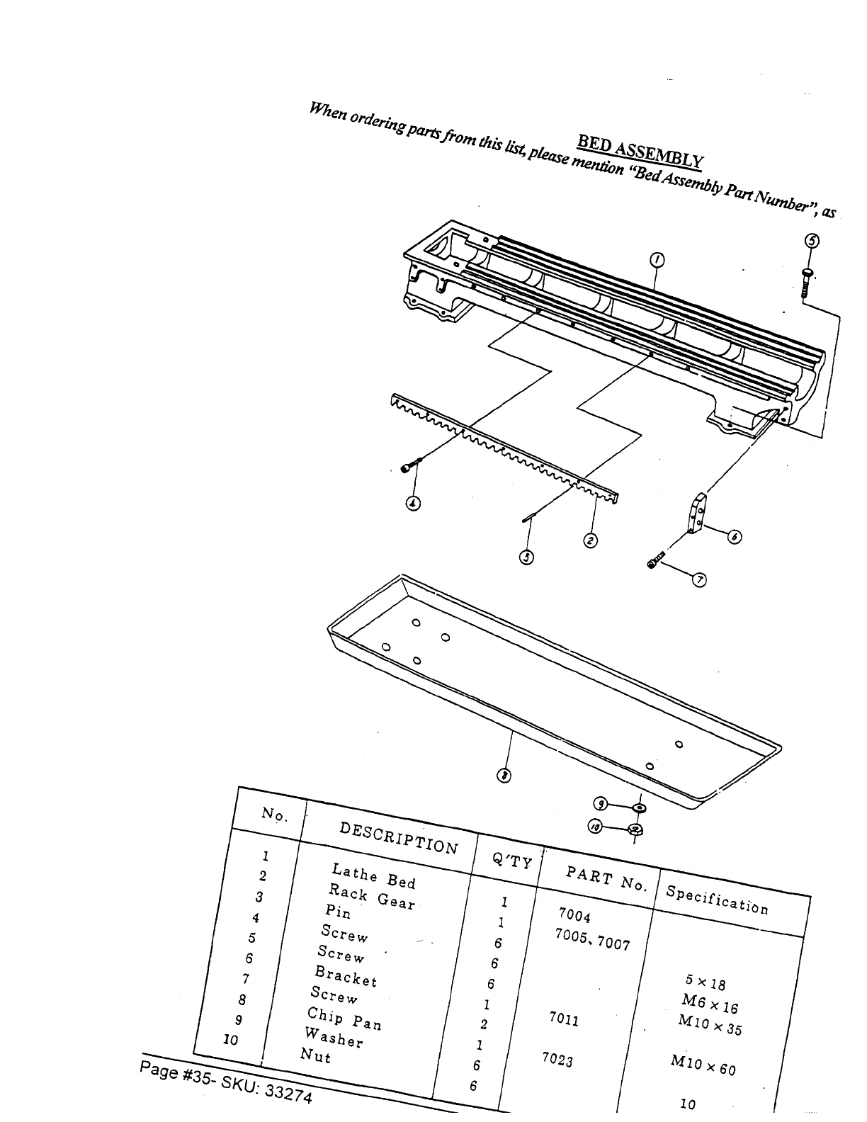 Page 35 of Harbor Freight Tools Lathe 33274 User Guide