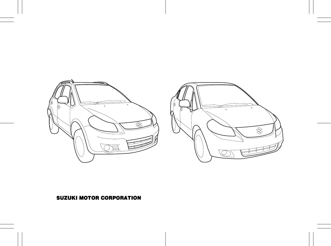 Page 2 of Suzuki Automobile 2010 SX4 User Guide