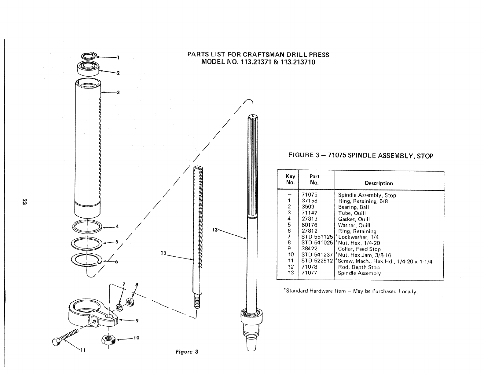 Page 23 of Sears Drill 113.21371 User Guide