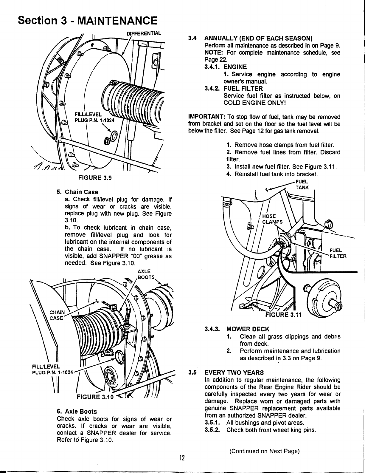 Page 12 of Snapper Lawn Mower 281016be User Guide