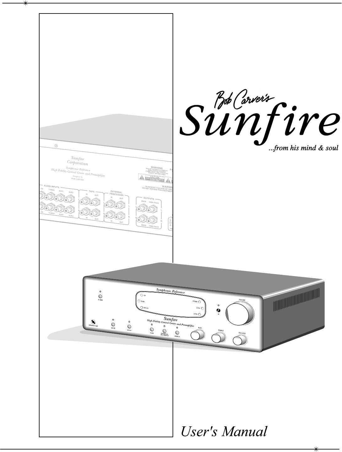 Sunfire Stereo Amplifier Symphonic Reference High Fidelity