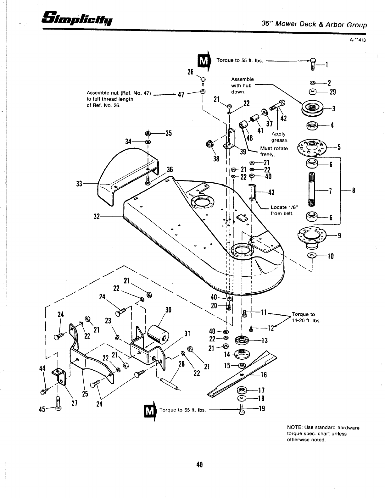 Page 42 of Simplicity Lawn Mower 3100 Series User Guide