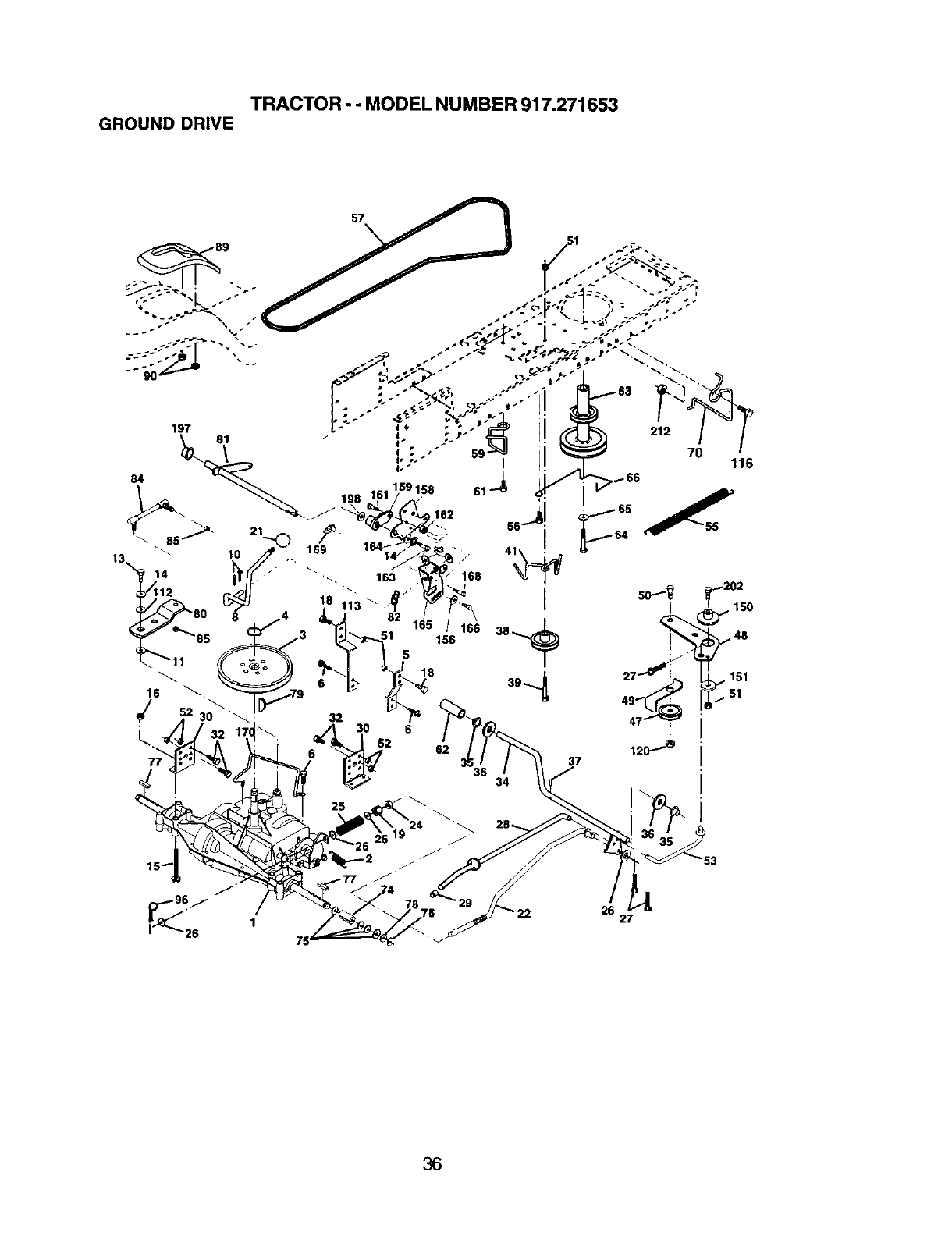 Page 36 of Craftsman Lawn Mower 917.271653 User Guide