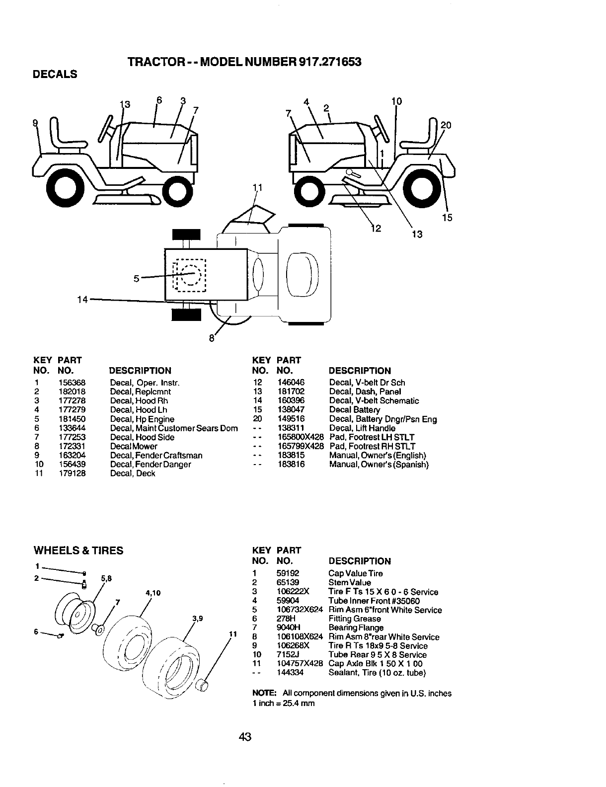 Page 43 of Craftsman Lawn Mower 917.271653 User Guide
