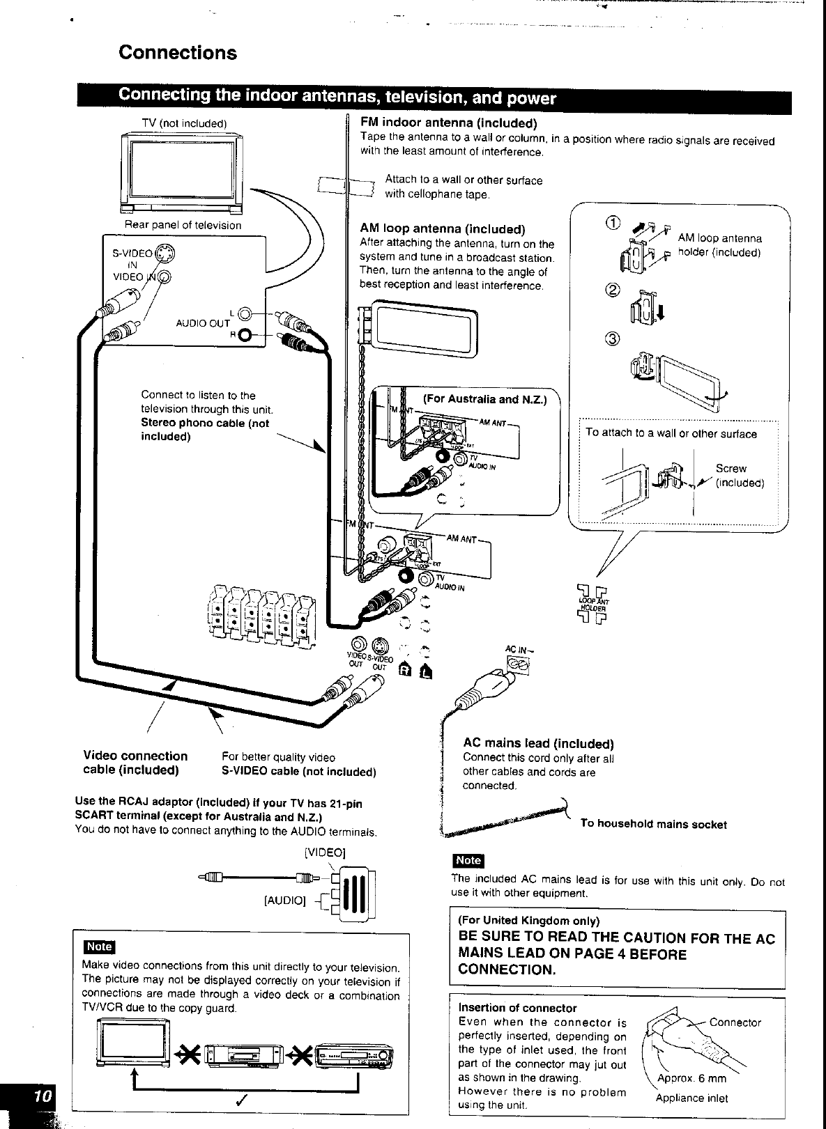 Page 10 of Panasonic Stereo System SC-HT80 User Guide