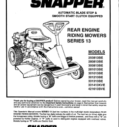 snapper lawn mower 301013be user guide manualsonline rh lawnandgarden sr1028 clutch assembly sr120 oil snapper snapper sr 1028 wiring diagram  [ 1225 x 1586 Pixel ]