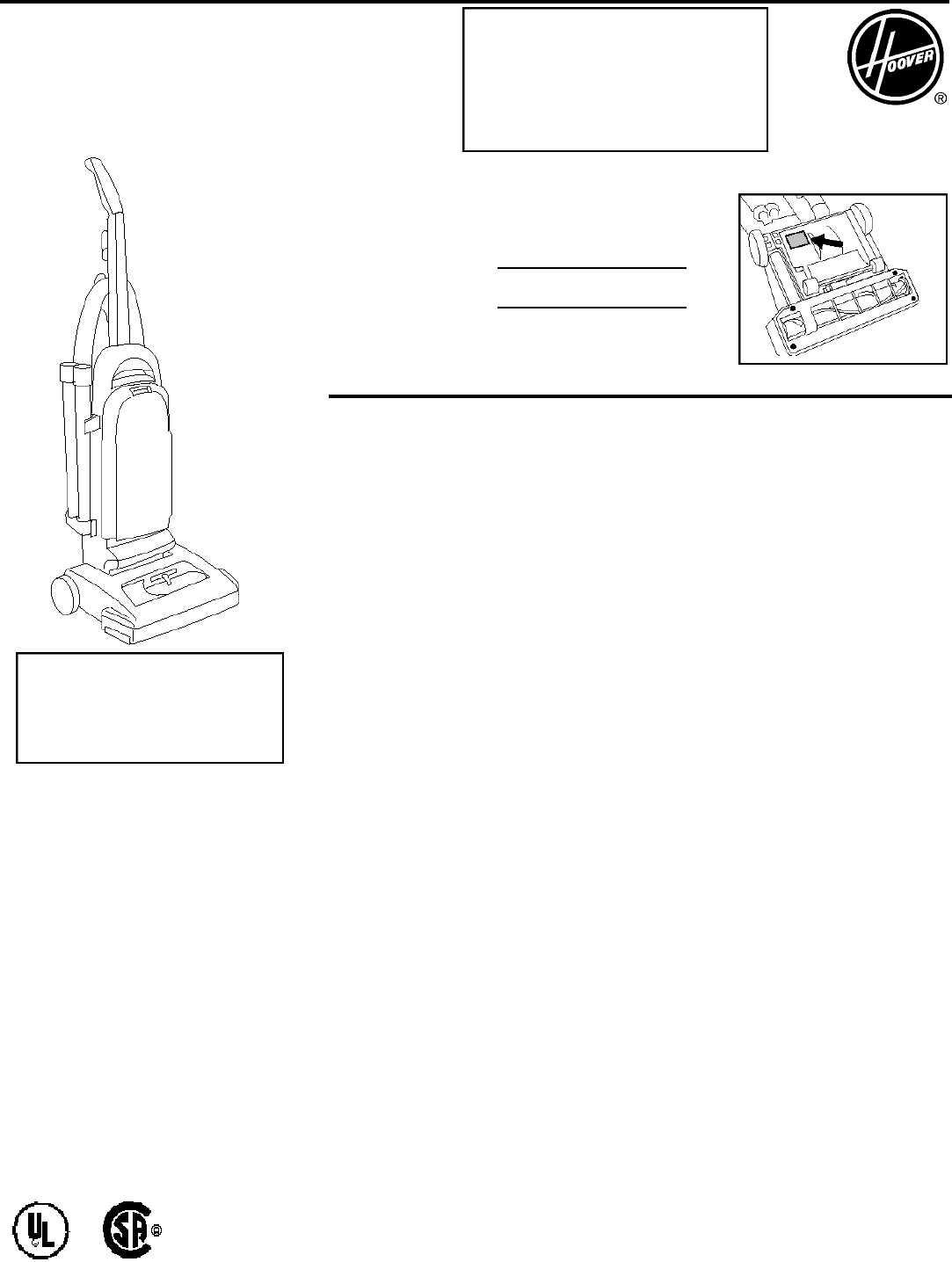 Page 13 of Hoover Vacuum Cleaner Wind Tunnel User Guide