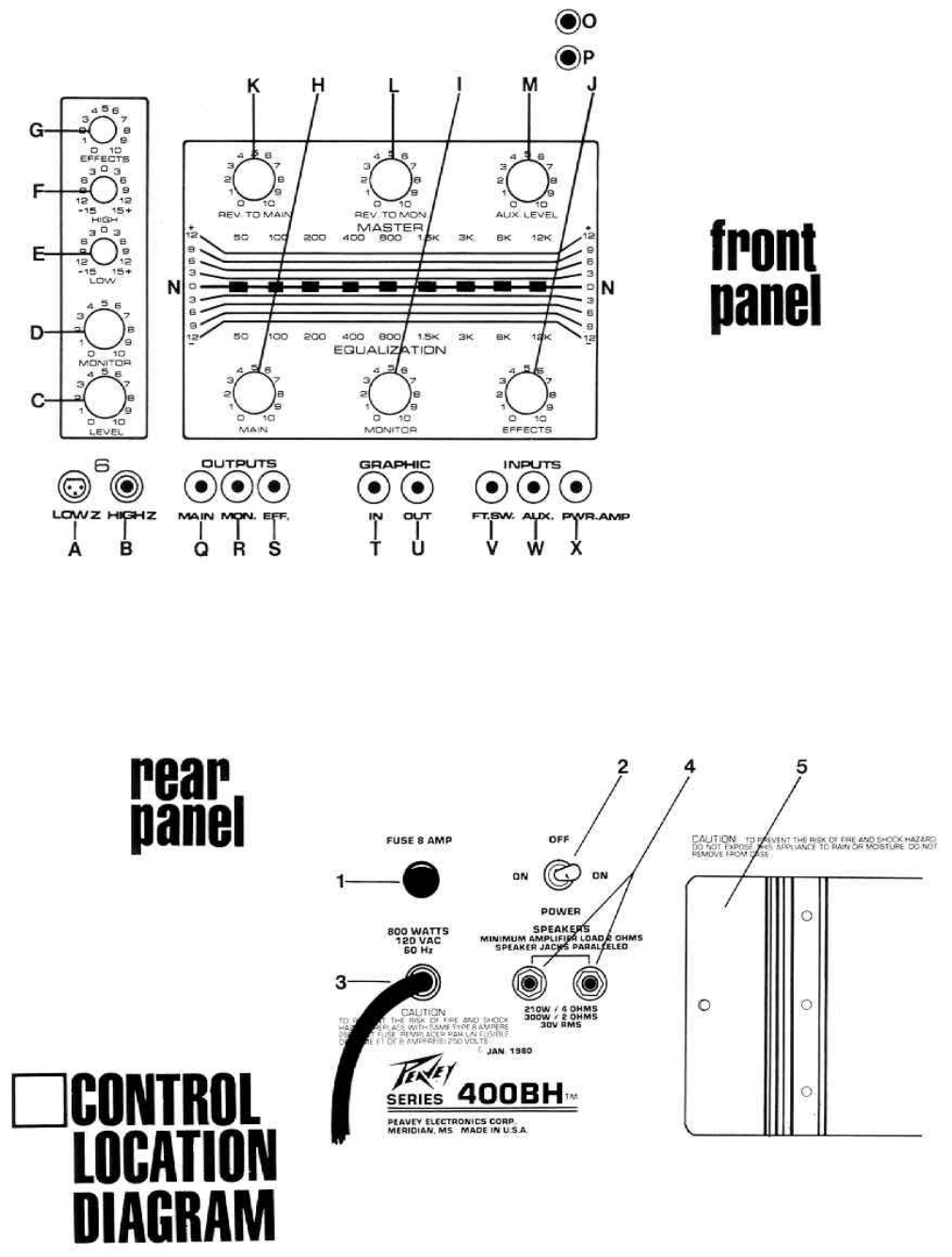 Page 4 of Peavey Stereo Amplifier XR-600B User Guide