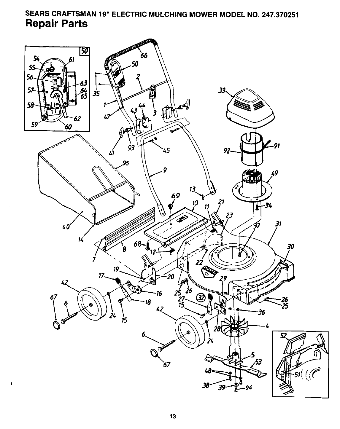 Page 13 of Craftsman Lawn Mower 247.370251 User Guide